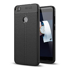 Handyhülle Hülle Luxus Leder Schutzhülle für Huawei Honor 8 Lite Schwarz