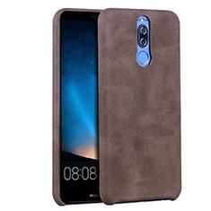 Handyhülle Hülle Luxus Leder Schutzhülle für Huawei Mate 10 Lite Braun