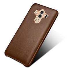 Handyhülle Hülle Luxus Leder Schutzhülle für Huawei Mate 10 Pro Braun