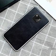 Handyhülle Hülle Luxus Leder Schutzhülle für Huawei Mate 20 Pro Schwarz