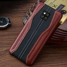 Handyhülle Hülle Luxus Leder Schutzhülle für Huawei Mate 20 RS Braun