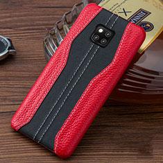 Handyhülle Hülle Luxus Leder Schutzhülle für Huawei Mate 20 RS Rot