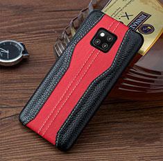 Handyhülle Hülle Luxus Leder Schutzhülle für Huawei Mate 20 RS Rot und Schwarz
