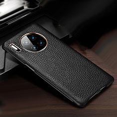 Handyhülle Hülle Luxus Leder Schutzhülle für Huawei Mate 30 Schwarz