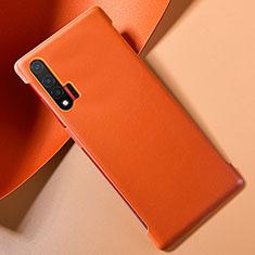 Handyhülle Hülle Luxus Leder Schutzhülle für Huawei Nova 6 5G Orange