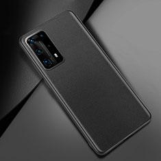 Handyhülle Hülle Luxus Leder Schutzhülle für Huawei P40 Pro+ Plus Schwarz