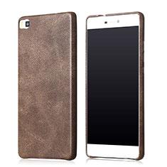 Handyhülle Hülle Luxus Leder Schutzhülle für Huawei P8 Braun