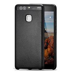 Handyhülle Hülle Luxus Leder Schutzhülle für Huawei P9 Plus Schwarz