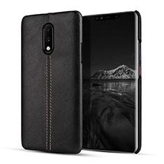 Handyhülle Hülle Luxus Leder Schutzhülle für OnePlus 7 Schwarz
