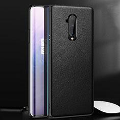 Handyhülle Hülle Luxus Leder Schutzhülle für OnePlus 7T Pro 5G Schwarz