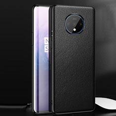 Handyhülle Hülle Luxus Leder Schutzhülle für OnePlus 7T Schwarz
