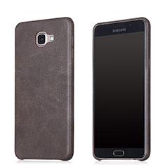 Handyhülle Hülle Luxus Leder Schutzhülle für Samsung Galaxy A8 (2016) A8100 A810F Braun