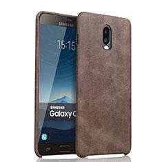 Handyhülle Hülle Luxus Leder Schutzhülle für Samsung Galaxy C7 (2017) Braun
