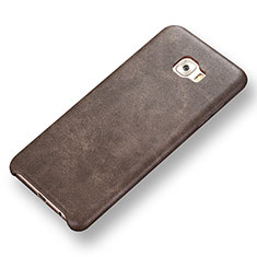 Handyhülle Hülle Luxus Leder Schutzhülle für Samsung Galaxy C7 Pro C7010 Braun
