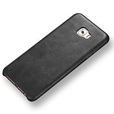 Handyhülle Hülle Luxus Leder Schutzhülle für Samsung Galaxy C7 Pro C7010 Schwarz