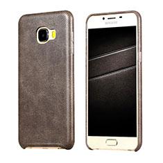 Handyhülle Hülle Luxus Leder Schutzhülle für Samsung Galaxy C7 SM-C7000 Braun
