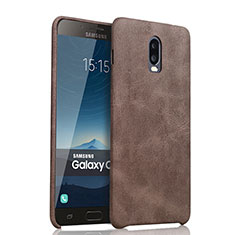 Handyhülle Hülle Luxus Leder Schutzhülle für Samsung Galaxy C8 C710F Braun
