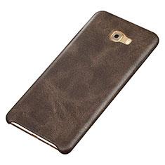 Handyhülle Hülle Luxus Leder Schutzhülle für Samsung Galaxy C9 Pro C9000 Braun