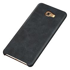 Handyhülle Hülle Luxus Leder Schutzhülle für Samsung Galaxy C9 Pro C9000 Schwarz