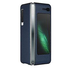 Handyhülle Hülle Luxus Leder Schutzhülle für Samsung Galaxy Fold Blau
