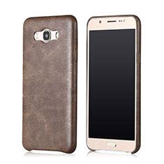 Handyhülle Hülle Luxus Leder Schutzhülle für Samsung Galaxy J7 (2016) J710F J710FN Braun