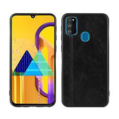 Handyhülle Hülle Luxus Leder Schutzhülle für Samsung Galaxy M30s Schwarz