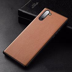 Handyhülle Hülle Luxus Leder Schutzhülle für Samsung Galaxy Note 10 5G Orange