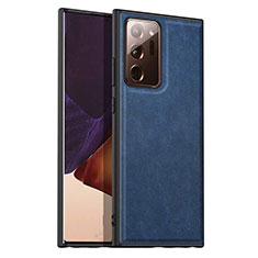 Handyhülle Hülle Luxus Leder Schutzhülle für Samsung Galaxy Note 20 Ultra 5G Blau