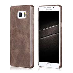 Handyhülle Hülle Luxus Leder Schutzhülle für Samsung Galaxy Note 5 N9200 N920 N920F Braun