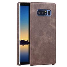 Handyhülle Hülle Luxus Leder Schutzhülle für Samsung Galaxy Note 8 Braun
