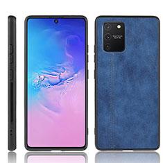 Handyhülle Hülle Luxus Leder Schutzhülle für Samsung Galaxy S10 Lite Blau