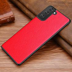 Handyhülle Hülle Luxus Leder Schutzhülle für Samsung Galaxy S21 Plus 5G Rot