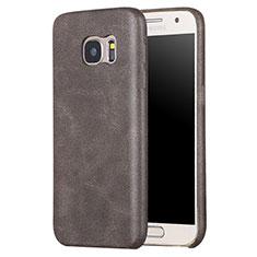 Handyhülle Hülle Luxus Leder Schutzhülle für Samsung Galaxy S7 G930F G930FD Braun