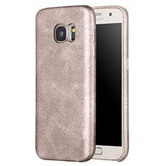 Handyhülle Hülle Luxus Leder Schutzhülle für Samsung Galaxy S7 G930F G930FD Gold