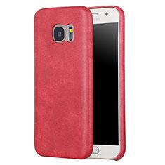 Handyhülle Hülle Luxus Leder Schutzhülle für Samsung Galaxy S7 G930F G930FD Rot