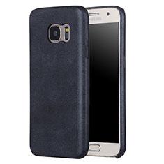 Handyhülle Hülle Luxus Leder Schutzhülle für Samsung Galaxy S7 G930F G930FD Schwarz