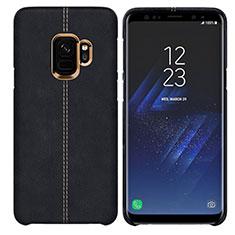 Handyhülle Hülle Luxus Leder Schutzhülle für Samsung Galaxy S9 Schwarz