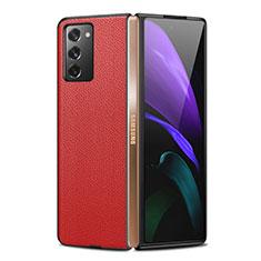 Handyhülle Hülle Luxus Leder Schutzhülle für Samsung Galaxy Z Fold2 5G Rot