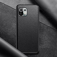 Handyhülle Hülle Luxus Leder Schutzhülle für Xiaomi Mi 11 5G Schwarz
