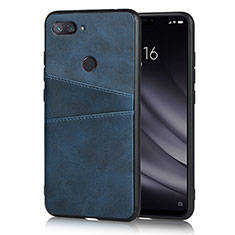Handyhülle Hülle Luxus Leder Schutzhülle für Xiaomi Mi 8 Lite Blau