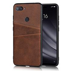 Handyhülle Hülle Luxus Leder Schutzhülle für Xiaomi Mi 8 Lite Braun