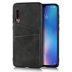 Handyhülle Hülle Luxus Leder Schutzhülle für Xiaomi Mi 9 Schwarz