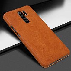 Handyhülle Hülle Luxus Leder Schutzhülle für Xiaomi Redmi 9 Prime India Orange
