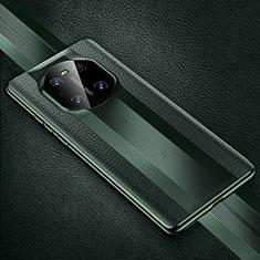 Handyhülle Hülle Luxus Leder Schutzhülle K01 für Huawei Mate 40 Pro Nachtgrün
