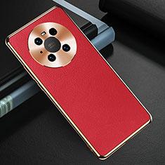 Handyhülle Hülle Luxus Leder Schutzhülle K03 für Huawei Mate 40 Pro Rot
