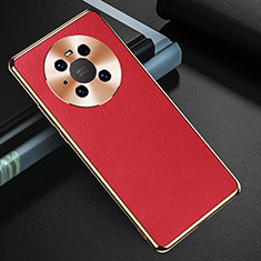 Handyhülle Hülle Luxus Leder Schutzhülle K03 für Huawei Mate 40 Rot
