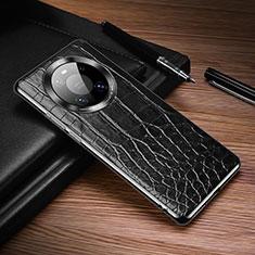 Handyhülle Hülle Luxus Leder Schutzhülle K05 für Huawei Mate 40 Pro Schwarz