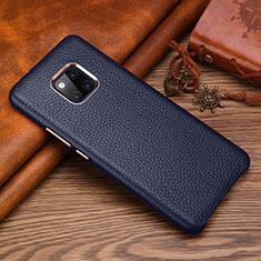 Handyhülle Hülle Luxus Leder Schutzhülle L01 für Huawei Mate 20 RS Blau