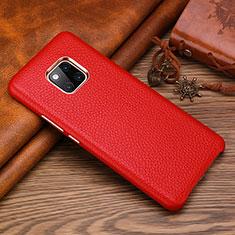 Handyhülle Hülle Luxus Leder Schutzhülle L01 für Huawei Mate 20 RS Rot