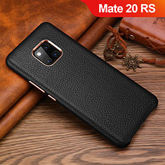 Handyhülle Hülle Luxus Leder Schutzhülle L01 für Huawei Mate 20 RS Schwarz